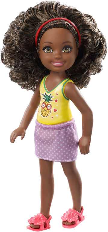 Barbie Club Chelsea Doll, Brown Hair With Pineapple Top