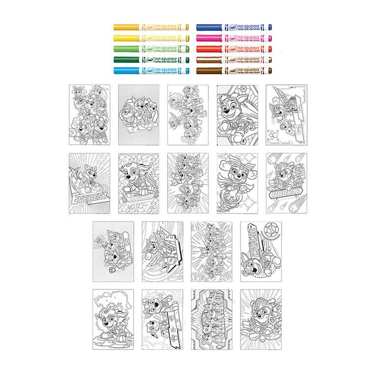 Pages à colorier géantes et marqueurs Crayola La Pat'Patrouille