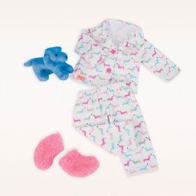 Counting Puppies, Our Generation, Pyjama avec chiot pour poupées de 18po