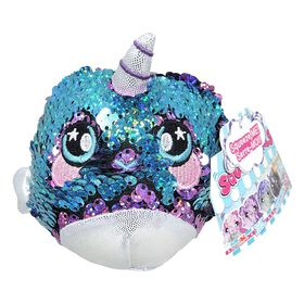 """Squeezamals - 3.5"""" Sequins - Narwhal"""