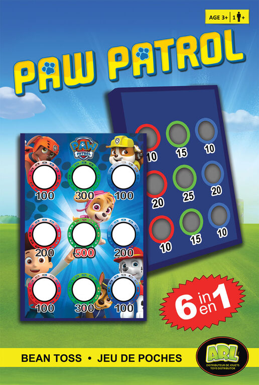 Paw Patrol Bean Toss 6 in 1 Game