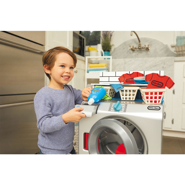Little Tikes First Washer-Dryer Realistic Pretend Play Appliance for Kids - English Edition