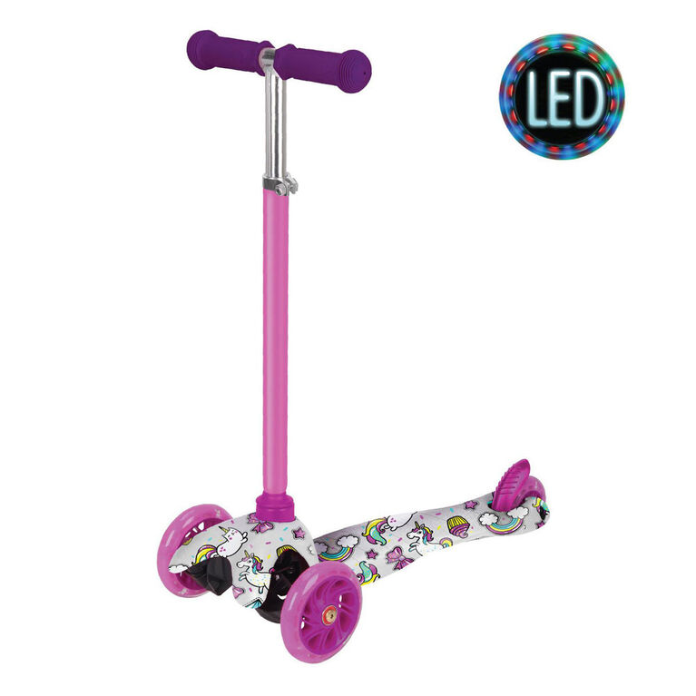 Rugged Racers Kids Scooter With Unicorn Print Design