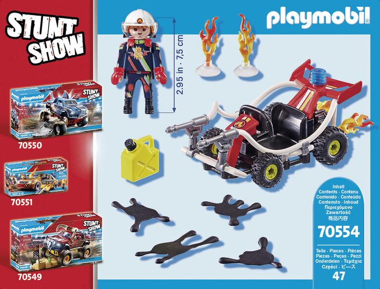 Playmobil - Stuntshow Véhicule et pompier