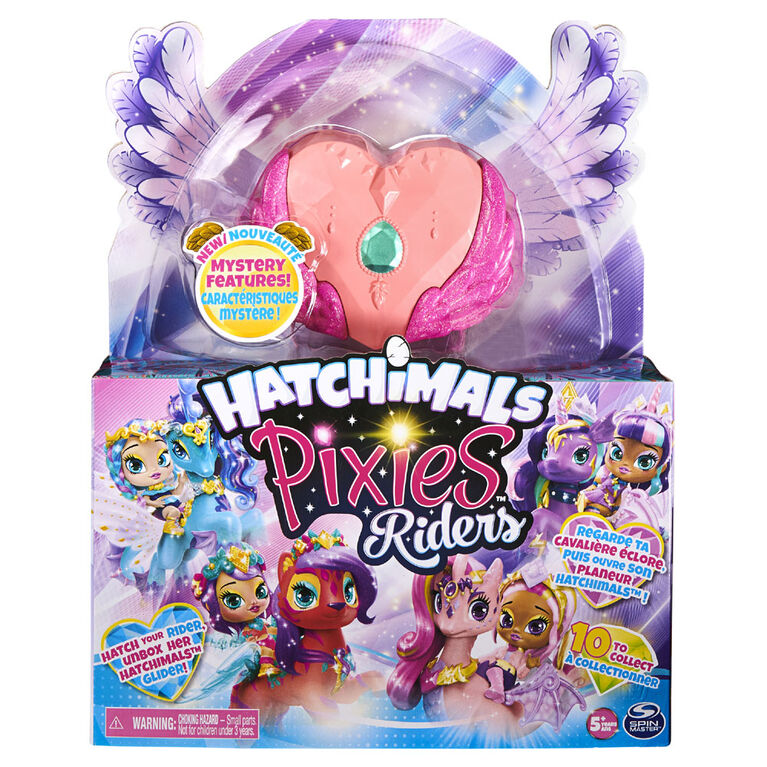 Hatchimals Pixies Riders, Radiant Roxy Pixie and Tigrette Glider Hatchimal Set with Mystery Feature
