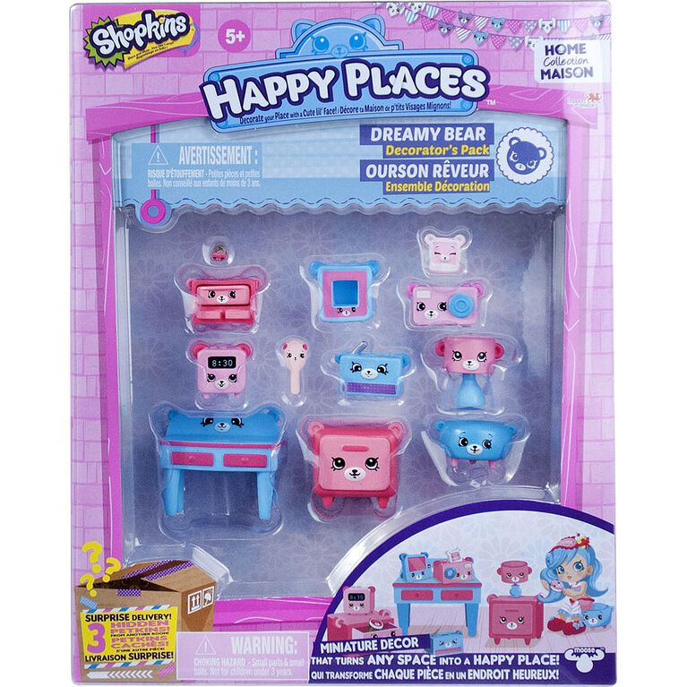 Shopkins Happy Places Decorator Pack - Dreamy Bear Bedroom