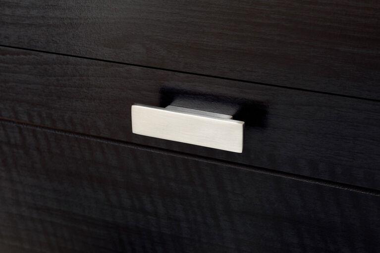 Reevo Table de chevet avec tiroirs et organisateur de fils- Onyx noir