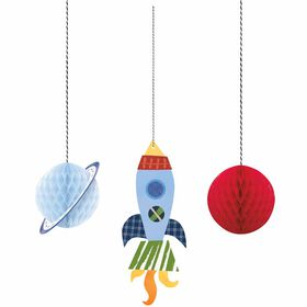 Outer Space Hanging Honeycomb Decor 3 pieces