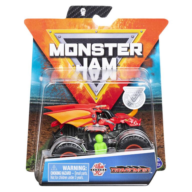 Monster Jam, Monster truck authentique Bakugan en métal moulé à l'échelle 1:64, série Arena Favorites