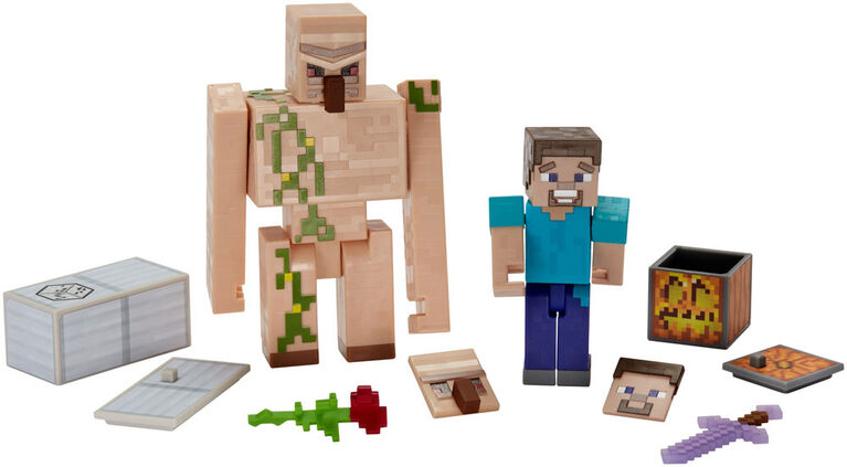 Minecraft - Comic Maker Steve and Iron Golem 2-Pack