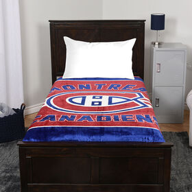 NHL Luxury Velour Blanket - Montreal Canadiens