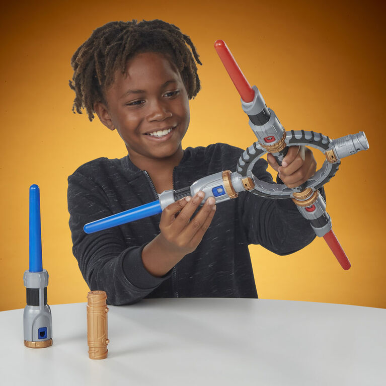 Star Wars Galaxy's Edge Lightsaber Workshop Protection and Defense Lightsaber Roleplay Item - R Exclusive