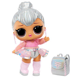 """L.O.L. Surprise! Big B.B. (Big Baby) Kitty Queen - 12"""" Large Doll, Unbox Fashions, Shoes, Accessories, Includes Playset Desk, Chair and Backdrop"""
