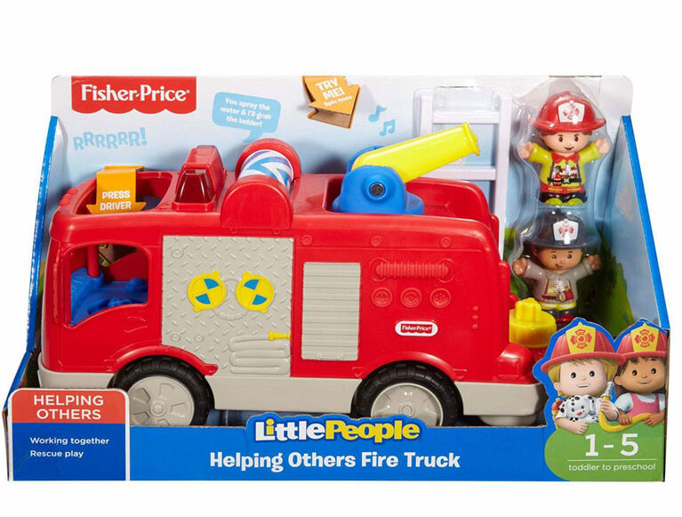 Fisher-Price Little People Helping Others Fire Truck - English Edition