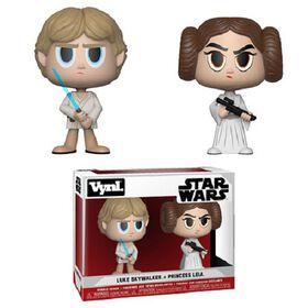 Figurine en vinyle Luke Skywalker et Princess Leia de Star Wars par Funko!.