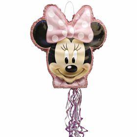 Minnie Shaped Drum Pull Pinata