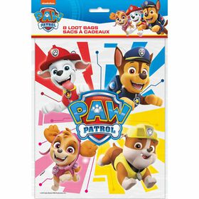 Paw Patrol Loot Bags, 8 pieces