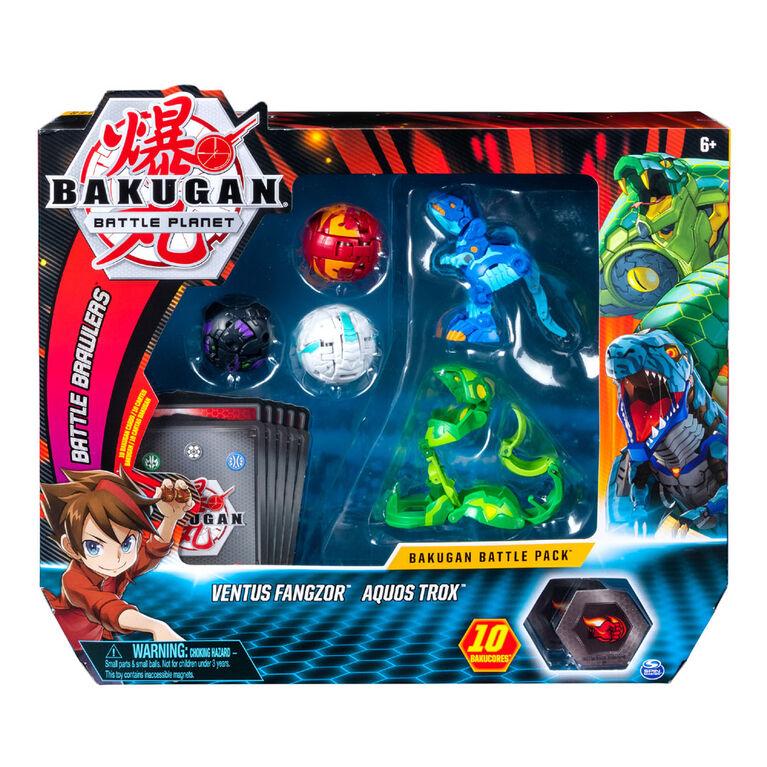Bakugan, Battle Pack 5-Pack, Ventus Fangzor and Aquos Trox