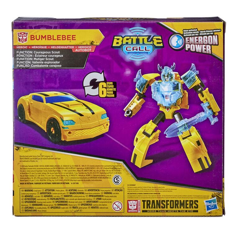 Transformers Bumblebee Cyberverse Adventures, Bumblebee Battle Call, classe Soldat, Energon Power activé par la voix