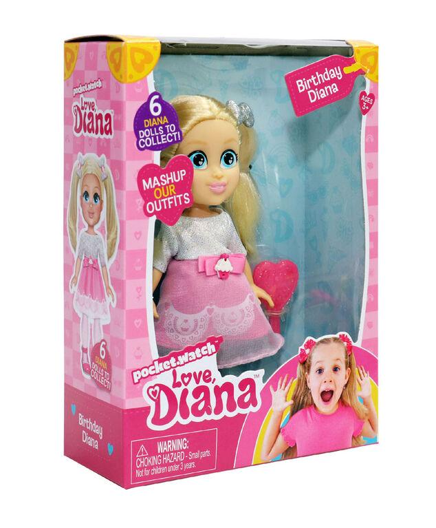 """Love, Diana - 6"""" Birthday Diana Doll - English Edition"""