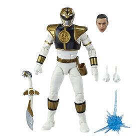 Power Rangers Lightning Collection - Figurine de collection Mighty Morphin Ranger blanc de 15 cm.