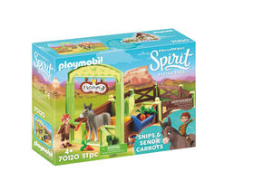 Playmobil Spirit Snips & Señor Carrots with Horse Stall