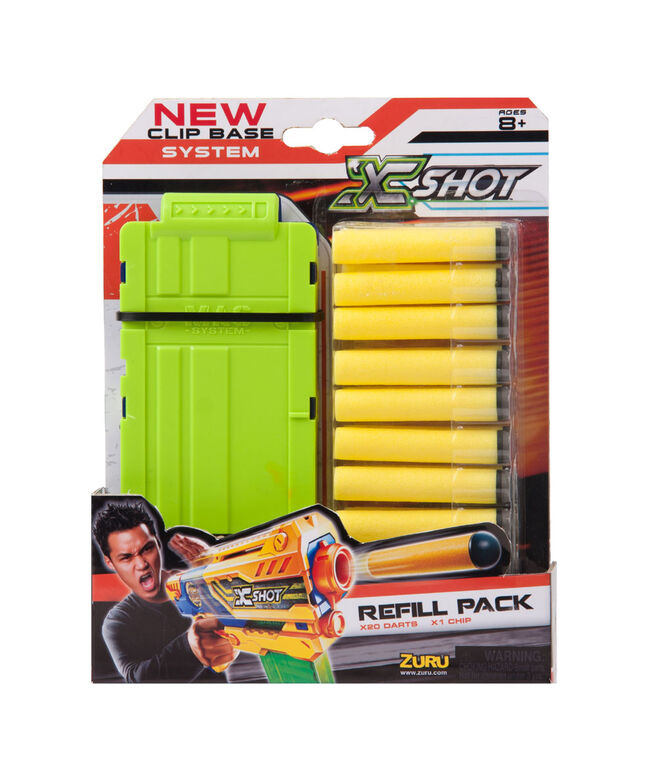 X-Shot Excel Clip and Darts Refill Pack (24 Darts) by ZURU