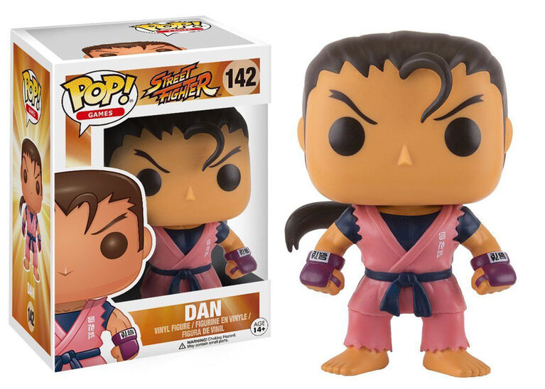 Figurine en vinyle Dan de Street Fighter par Funko POP!.