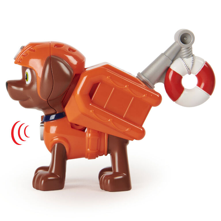 PAW Patrol, Action Pack Zuma Collectible Figure with Sounds and Phrases
