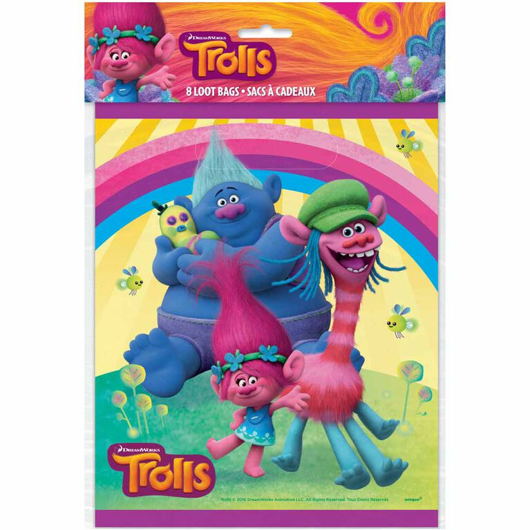 Trolls Loot Bags 8 pieces