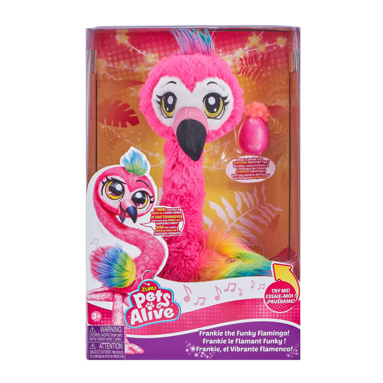 Pets Alive Frankie the Funky Flamingo Battery-Powered dancing Robotic Toy - R Exclusive
