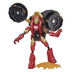 Marvel Bend and Flex, Flex Rider Iron Man figurine articulée flexible