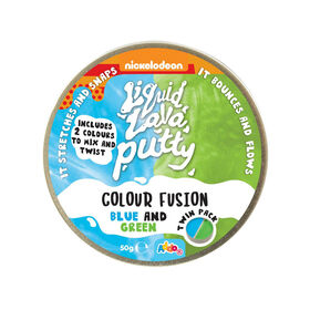Nickelodeon Liquid Lava Putty Colour Fusion Blue and Green