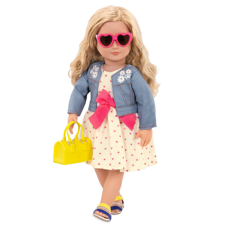 Our Generation, Bright As The Sun, Heart-Print Dress Outfit for 18-inch Dolls