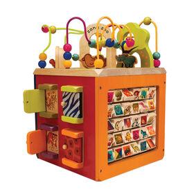 B. Toys Zany Zoo, Wooden Activity Cube