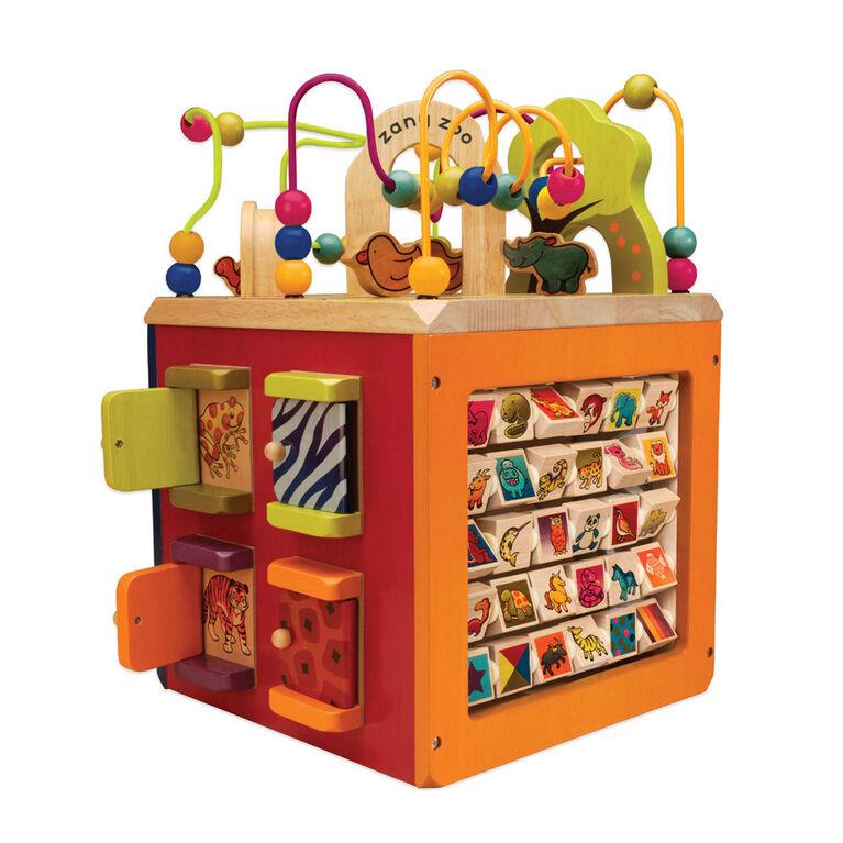 Zany Zoo, B. Toys Wooden Activity Cube