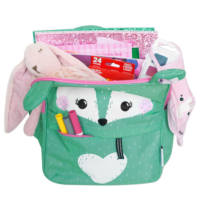 ZOOCCHINI - Toddler, Kids Everyday Square Backpack - Daycare, Nursery, Kindergarten, School Bag - Fiona the Fawn