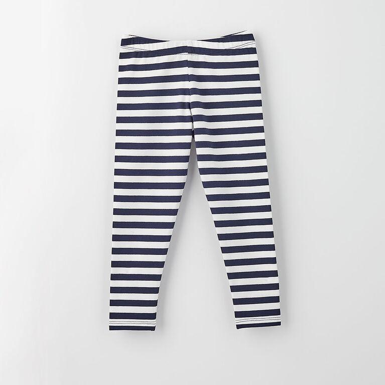 organic play legging, 12-18m - navy stripe