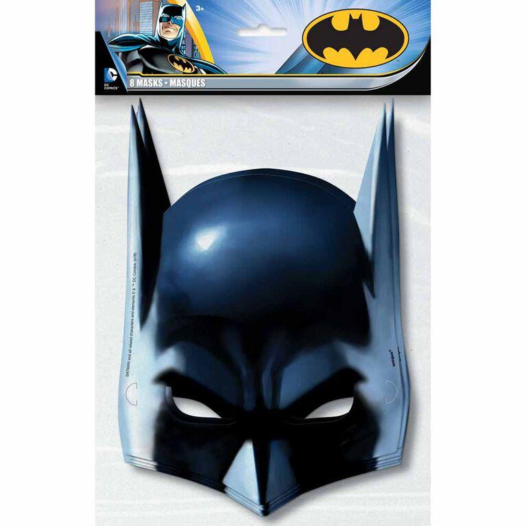 Batman Party Masks, 8 pieces