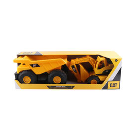 Cat Tough Rigs 2 Pk Dump Truck & Excavator