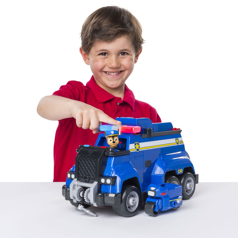 PAW Patrol Ultimate Rescue - Chase's Ultimate Police Cruiser with Lights and Sounds and Exclusive Mini Vehicle - Exclusive