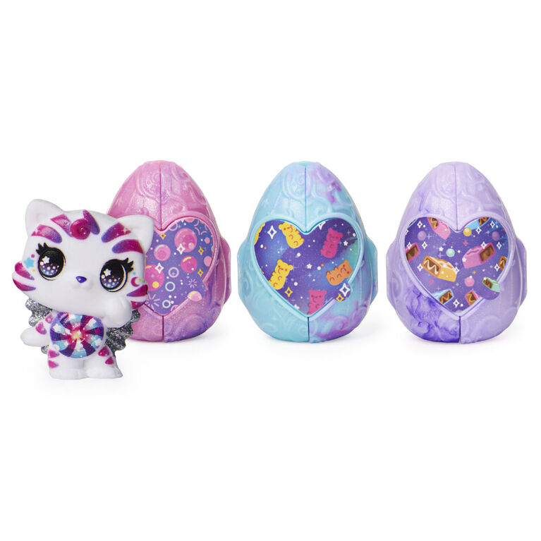 Hatchimals CollEGGtibles, Coffret Cosmic Candy de 4 Hatchimals (les styles peuvent varier)