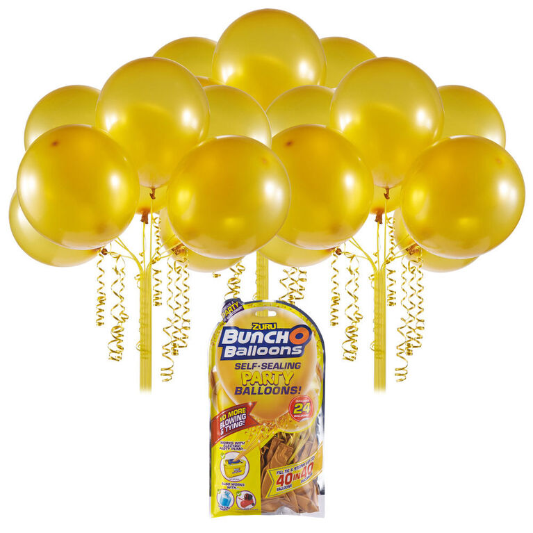 24 ballons Bunch O Balloons en latex à fermeture automatique de 11 pouces (28 cm) (ballons or) de ZURU