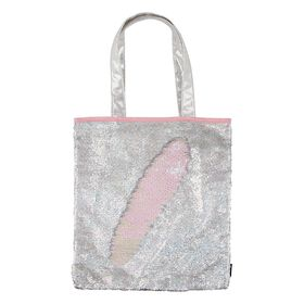 Magic Sequin Silver Holo/Irridescent Tote Bag