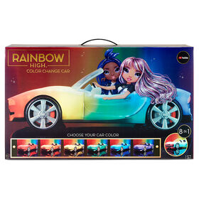 Voiture à couleur changeante Rainbow High - voiture décapotable