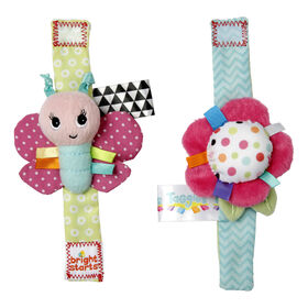 Bright Starts - Bracelets Pretty In Pink Rattle Me