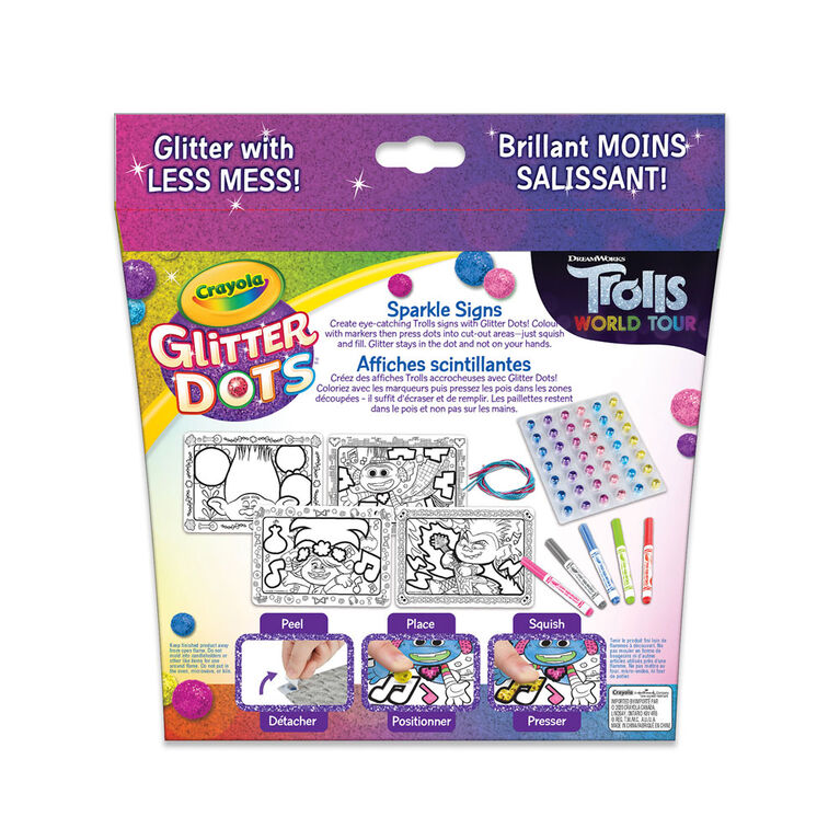 Crayola Glitter Dots Sparkle Signs, Trolls World Tour