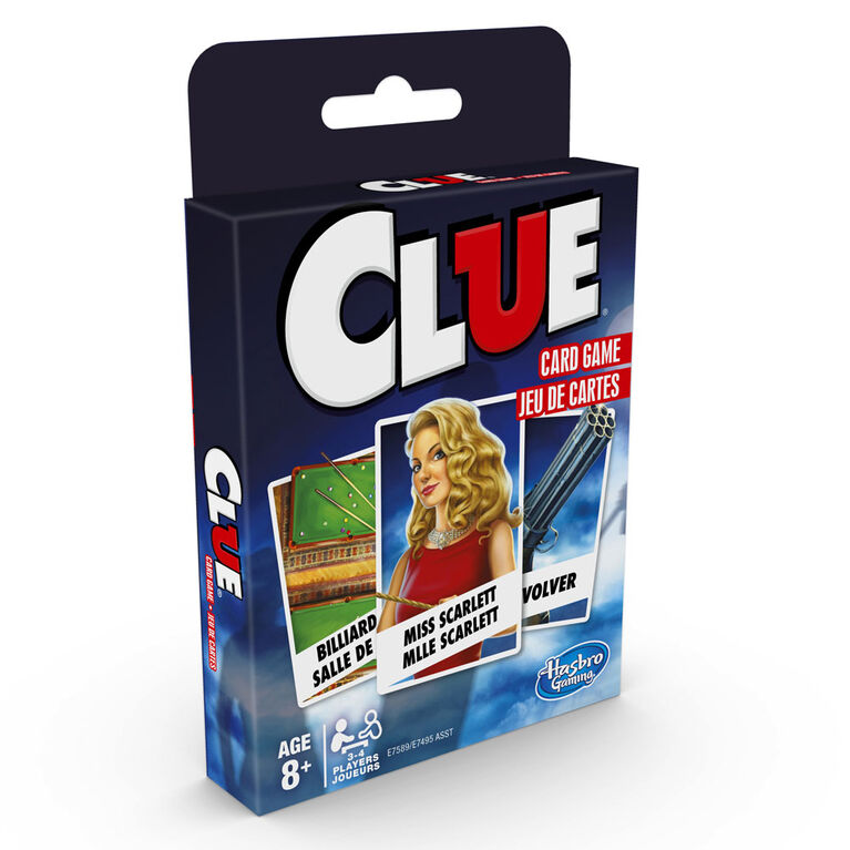 Clue Card Game - styles may vary