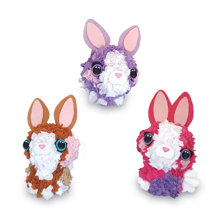 PlushCraft 3D Mini Bunny Pack