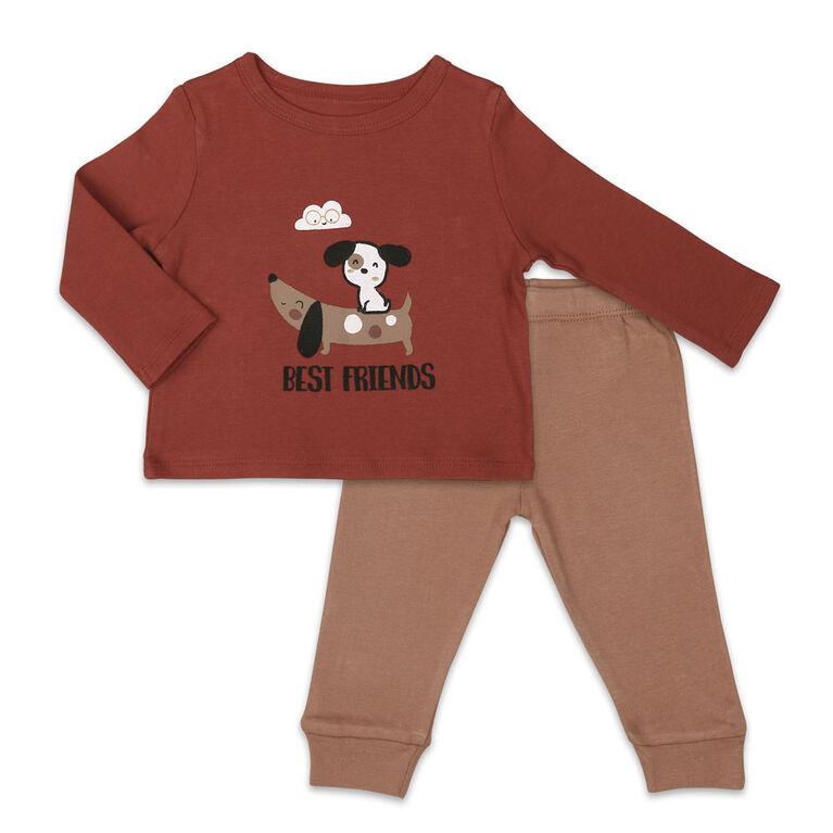 Ensemble Koala Baby chemise et pantalon, Best Friends - 3-6 Mois